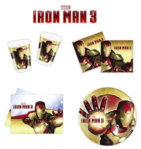 Iron-Man-3-Marvel-Avengers-Birthday-PARTY-ITEMS-Tableware-Balloons-Supplies