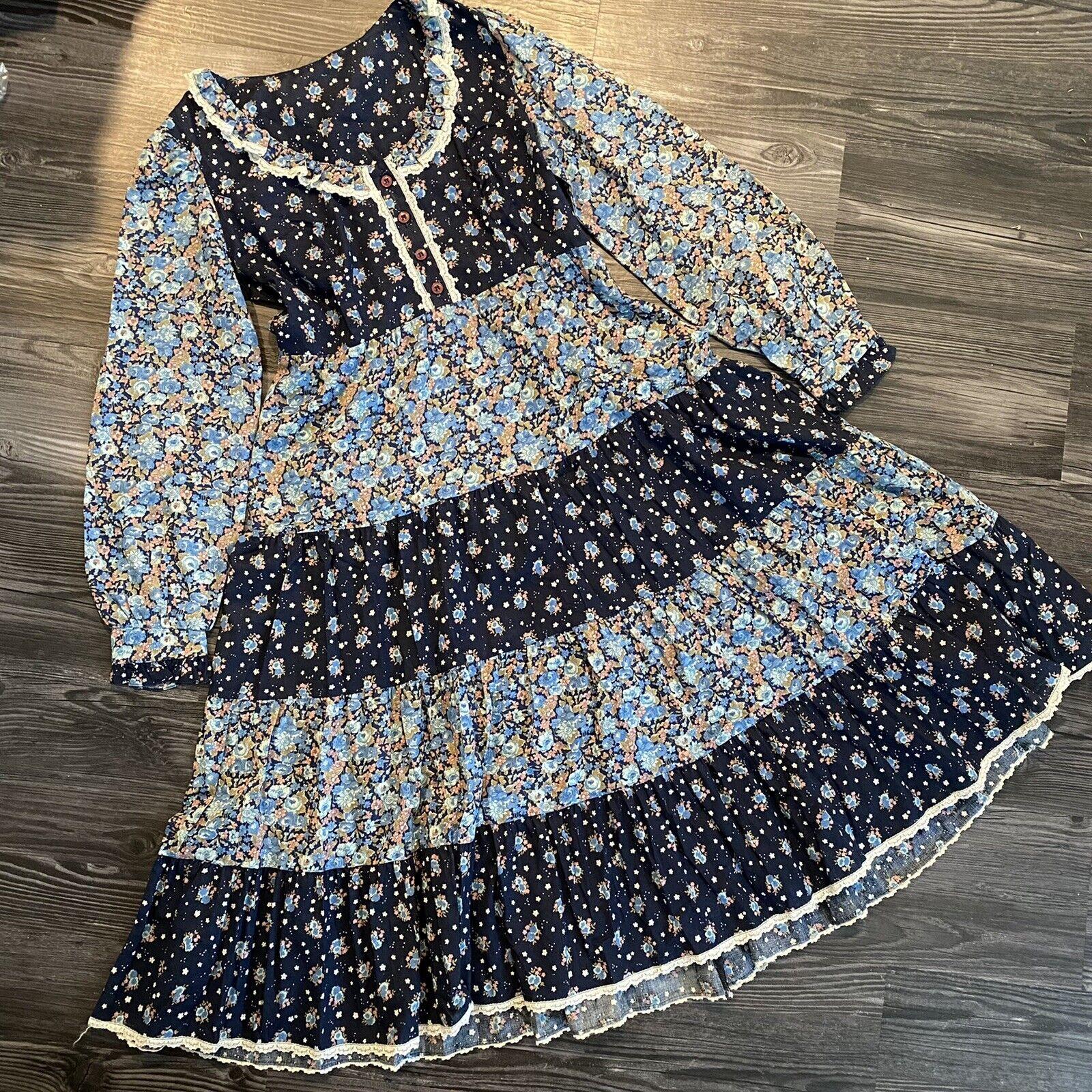 1970s vintage Gunne Sax Style Dress - image 1