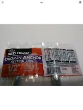 = Drop in Anchor Steel Setting Tool 1//2 In RED HEAD RT 112 New