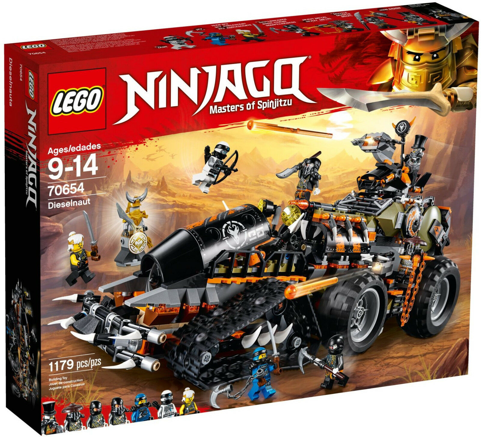 Lego Ninjago 70654 70654 70654 Dieselnaut Tank Dragon Hunters New and Sealed 5a9ac6