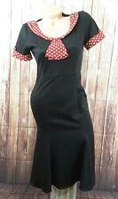 VfEmage femmes Vintage Rockabilly Retro Polka Dot Bowknot pin-up DRESS SZ M VLV