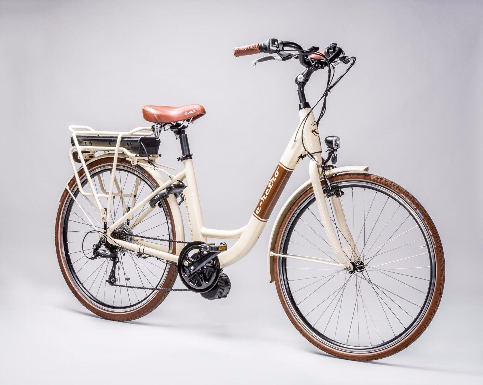 RETRO Pedelec E Bike Bike Bike Beige 28Zoll 36V10Ah Shimano BaFang Mittelmotor 8FUN BBS1 169683