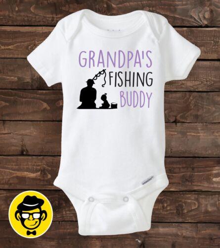 Personalized shirt Baby gift Baby girl shirt Grandpa/'s Fishing Buddy