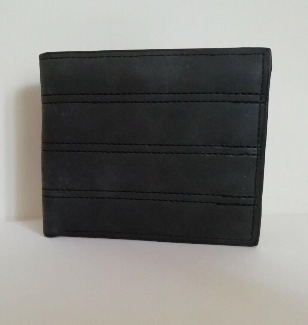 Men's Black Faux Leather Wallet From Kangaroo Poo BNWT
