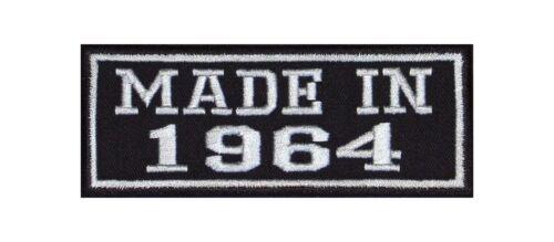 MADE in 1964 Biker Patch ricamate MC year of Birth anno di nascita fondata nel numero