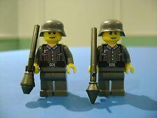 LEGO LOT #31  CUSTOM WW2 WORLD WAR 2 DARK GRAY GERMAN SOLDIER FIGURE TANK FIST