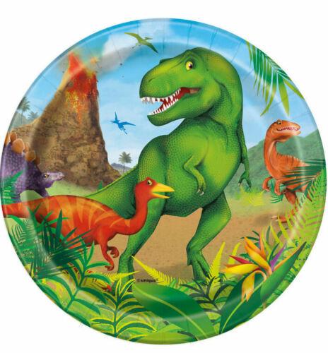 F1 8 x  Dinosaurier Pappteller 18 cm Durchmesser Neu OVP