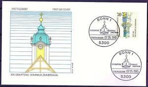 Frg-1985-Dominikus-zimmermann-FDC-Der-No-1251-Mit-Bonner-Sonderstempeln-20-05