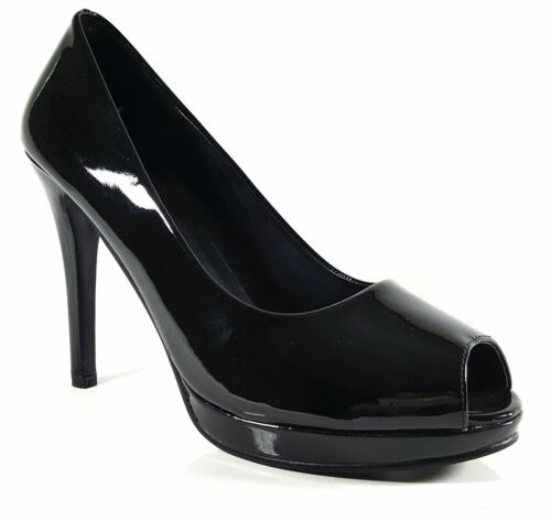 Womens Mens Peep Toe Crossdresser High Heel Platform Court Shoe Large Size 9-12