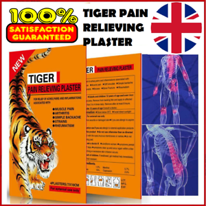 TIGER-Hot-Pain-Relieving-Herbal-Plaster-Patches-Muscle-Relief-Strains-Arthritis