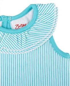 Zutano Ruffle Bubble, Pool Candy Stripe, 12 Months