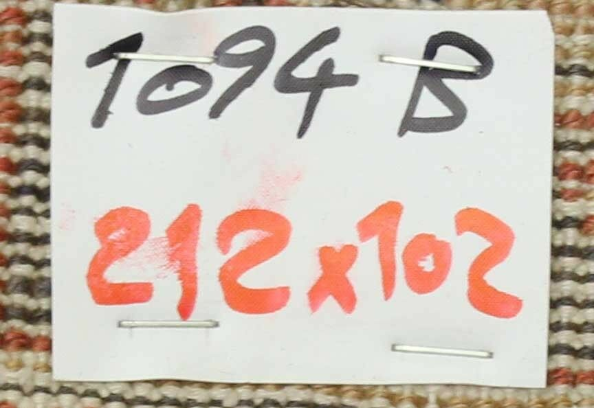 OLD WOOL HAND MADE ORIENTAL ORIENTAL ORIENTAL FLORAL RUNNER AREA RUG CARPET 212 X 102 CM 208c64