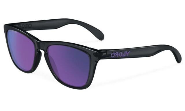 f840d175e9913 Nuevo Oakley Polarizados Frogskins - Tinta Negra   Violeta IRIDIO