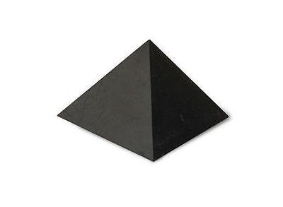 "BIGGEST!! Polished Shungite Pyramid 250x250mm (9.84""x9.84"") Schungite RUSSIA"