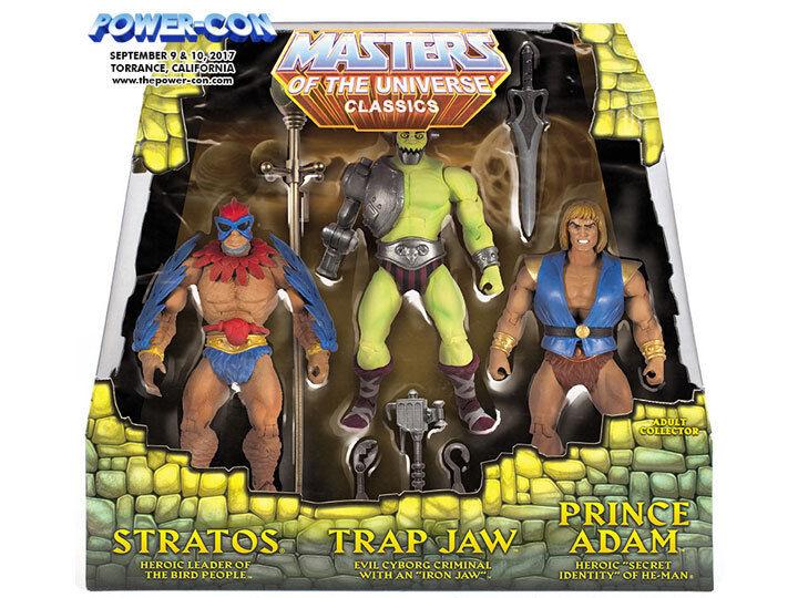 Masters Masters del universo clásicos potencia con ex 3 paquetes 2017 ex Set 6 figuras Adam a todo el mundo nuevo  grandes precios de descuento