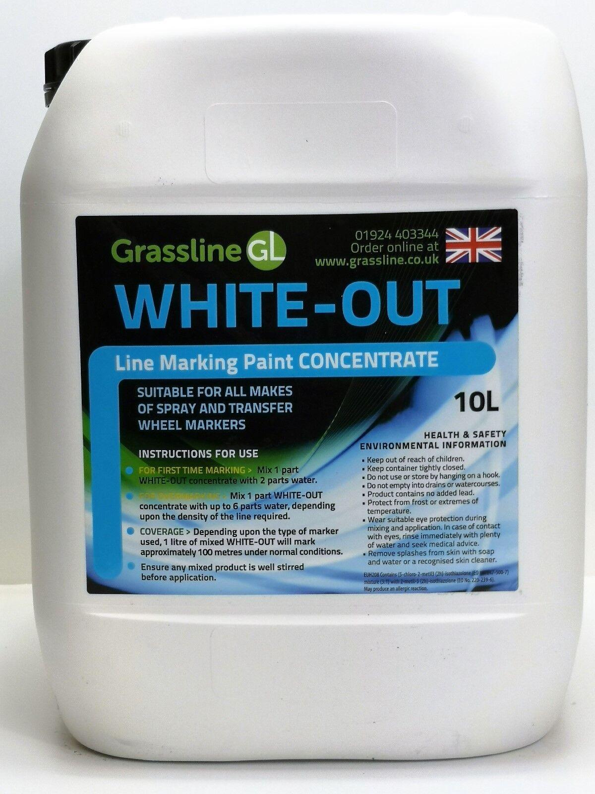 3 x 10 Liter Grassline Weiß-Out Sport Line Marking Paint for Grass