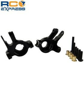 Front Steering Knuckles Aluminum for Axial SCX-10 II Black