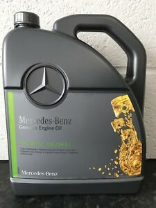 5 l genuine mercedes benz 5w30 low ash saps engine oil. Black Bedroom Furniture Sets. Home Design Ideas