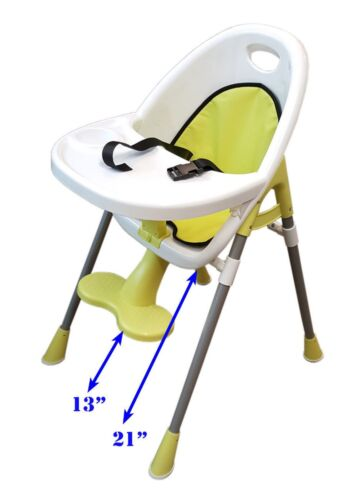 Toddler High Chair Baby Yellow High Chair Infant Feeding Seat FOOTREST Table @UK