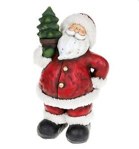 LARGE SIZE CHEERY SANTA WITH TREE FIGURINE ORNAMENT CHRISTMAS XMAS STATUE - <span itemprop=availableAtOrFrom>Manchester, United Kingdom</span> - Please note handmade product's design & colours can vary slightly and surface texture and finish can appear rough when compared to an image or photograph. While every effort is made to - Manchester, United Kingdom