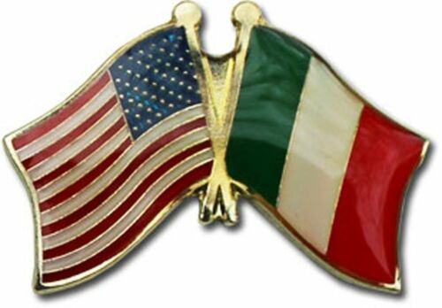 Wholesale Pack of 6 USA American Italy Friendship Flag Bike Hat Cap lapel Pin