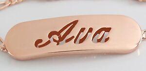 Unter Der Voraussetzung Rosé 18k Vergolde Namensarmband - Ava - Geschenke Personalisierte Schmuck