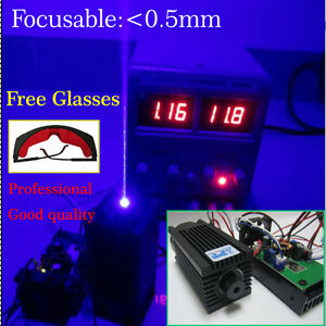Focusable-high-power-2W-450nm-blue-laser-module-with-TTL-12V-input-Wood-carving