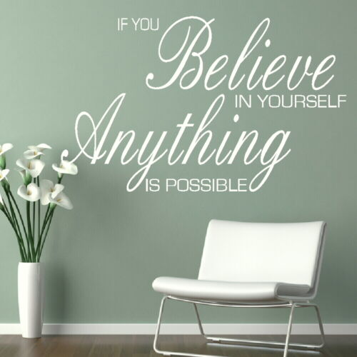Removable Wall Quote Anything Is Possible Large Interior Wall Quote niq18