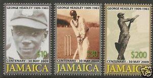 JAMAICA-2009-George-Headley-CRICKET-CENTENARY-Set-of-3-MNH