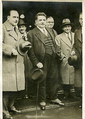 """arrivée De Mr Herriot Salle Wagram1931"" Photo Originale G. Devred / Agce Rol"