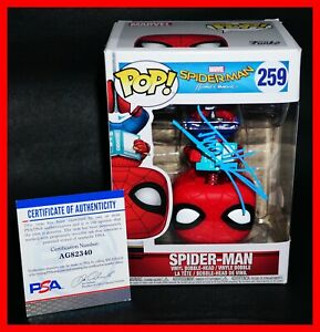 RARE-Tom-Holland-Signed-Autographed-Spider-Man-Homecoming-259-Funko-POP-PSA