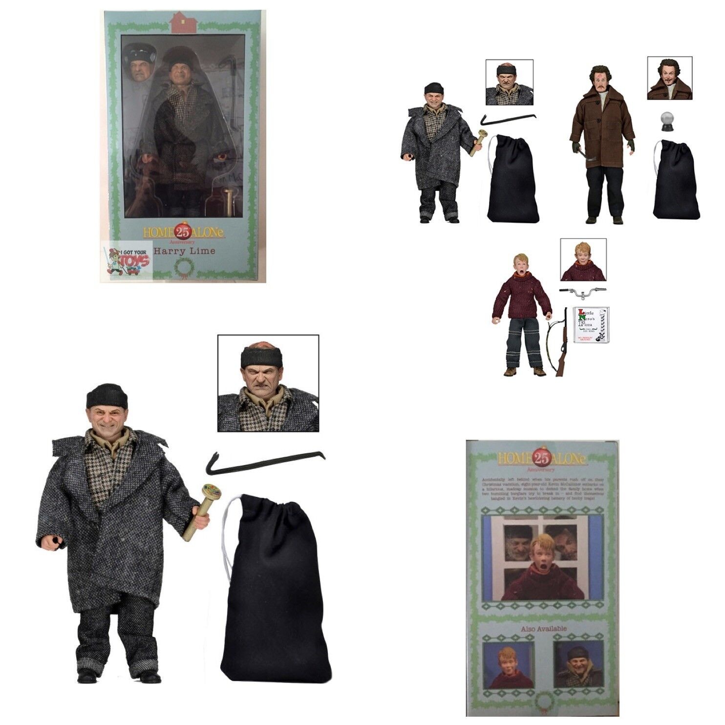 HARRY LIME Home Alone NECA 25TH ANNIVERSARY 5 1 2  Inch 2015 CLOTHED FIGURE