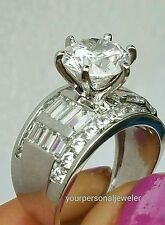 Woman 14k White Gold Solitaire 5.5 ct Man Made Diamond Engagement Wedding Ring 7
