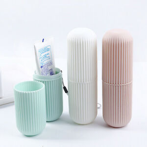 Brosse-a-Dents-Pate-Coque-Support-couverts-camping-voyage-salle-de-bain-gobelet-boite-dent-TASSE