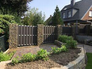 Gabionen berlin gabione 200x50x40 cm mw 5x10 sichtschutz zaun garten ebay - Garten steinmauer gabione ...