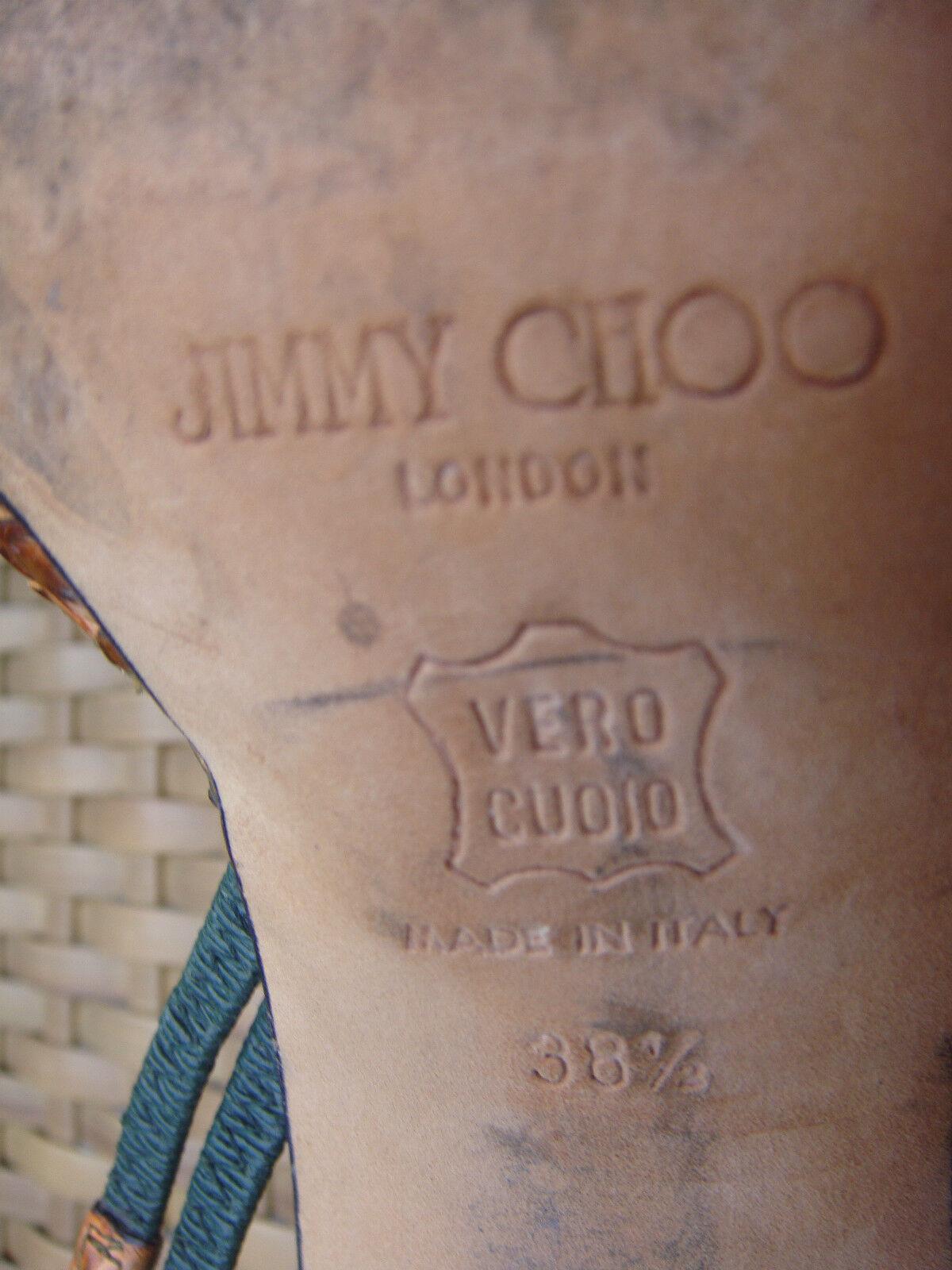 JIMMY CHOO LONDON  Python Schuhe Gr.38,5 Python  Leder 15c667