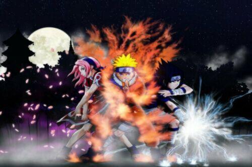 Poster Naruto Sasuke Kakashi Japan Anime Boy Room Wall Cloth Print 43