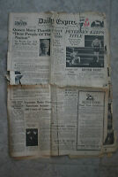 1936 Daily Express Newspaper Remnants - Soon after Death King George V