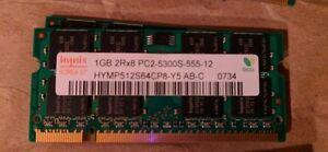 Hynix 1GB 2Rx8 PC-5300S-555-12