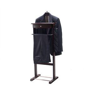 Image Is Loading Standing Valet Clothes Hanger Suit Bedroom Organizer Rack
