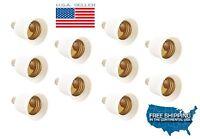 10pcs E12 To E26 / E27 Adapters Chandelier Socket E12 To Medium Socket E26/e27