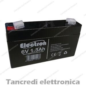 Batteria-Ermetica-Ricaricabile-al-Piombo-6V-6-V-Volt-1-2Ah-1-3Ah-1-2-Ah-1-3-Ah