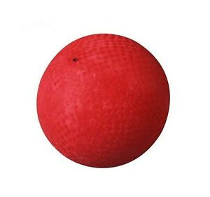 """1 NEW KICKBALL DODGE BALL SOCCER RED 9/"""" PVC PLAYGROUND RECREATION PARTY CARNIVAL"""