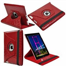 US 360 Rotating PU Leather Case Smart Cover Stand for iPad 2 iPad 3 iPad 4 Red