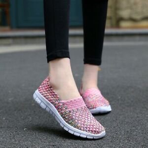 Women-039-s-Slip-on-Comfort-Shoes-Breathable-Loafers-Flat-Walking-Shoes-Fashion