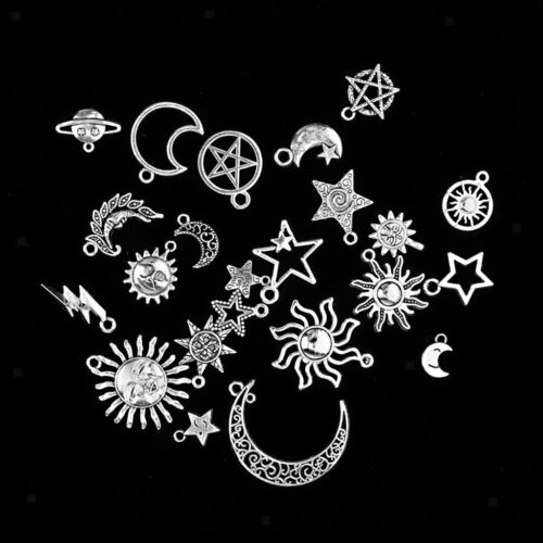 Assorted Sun Moon Star Pendant Beads Jewelry Earring Making Dangle Crafts