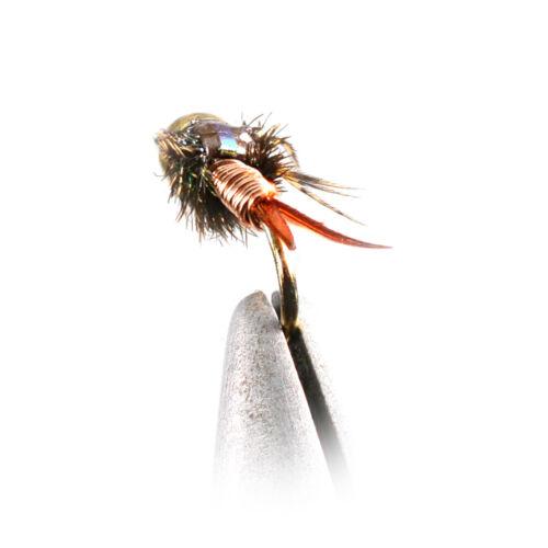 Choose Hook Size 1 Doz Bead Head Copper John Nymph Flies