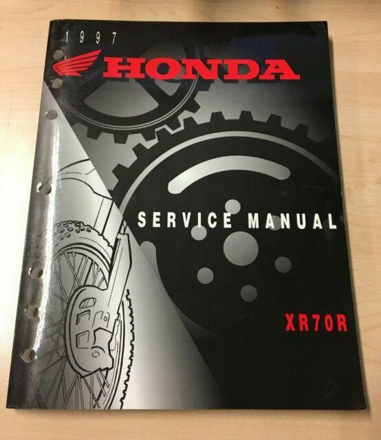 1997 Honda Xr70r Oem Service Shop Manual Book Repair Tune