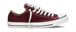 Converse All Star Chuck Taylor Burgundy Low Top New In Box 100 ... 16600bbed