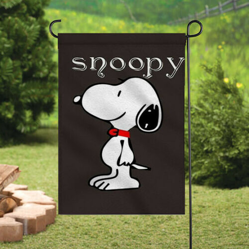 Cute Snoopy Signs Banner//Flag Courtyard Double Sided Outdoor Garden Flags